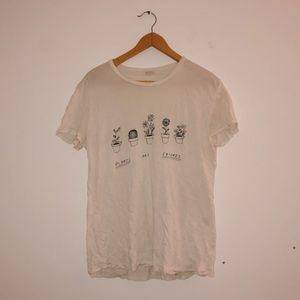 "Brandy Melville ""Plants Are Friends"" T-shirt"